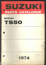 1974 SUZUKI TS50 MOTORCYCLE PARTS MANUAL / FACTORY ORIGINAL
