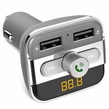 Bluetooth FM Transmitter Car Kit W/ LCD Dual USB Charger SD Support MP3 Player