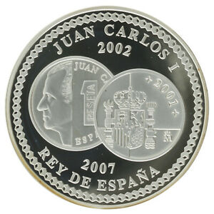 Spain - Silver 10 Euro Coin - 'Euro Circulation: Cooperation' - 2007 - Proof