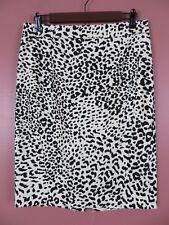 SK13359- ANN TAYLOR LOFT Womens Cotton Pencil Skirt Multi-Color Animal Print 6