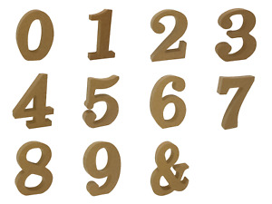 Wooden Numbers Free Standing MDF  10cm High Alphabet Craft Embellishments