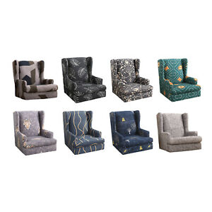 Stretchy Thick Wingback Chair Covers Wing Chair Armchair Sofa Slipcover Home