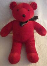 "Paul Mitchell Red Teddy Bear Black Bow Plush Stuffed Animal 13"" Tall"