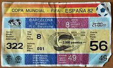 TICKET FIFA WORLD CUP SPAIN 82 SEMI FINAL ITALY vs POLAND