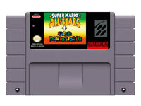 SNES Game Super Mario All-Stars+super mario world  US/CAN Version Battery Save