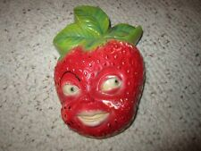 Vintage Strawberry Chalkware W/Face!