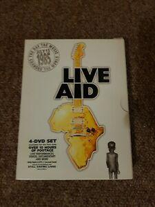 Live Aid 4 DVD boxset 1985 Wembley Philadelphia 13/07/85 Bowie U2 Queen incl