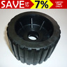 """4"""" Boat Trailer Wobble Roller Ribbed 22mm bore OZ made H/D rollers Black Aust"""