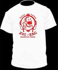 RED ZIG ZAG FADED ROLLING PAPERS 420 WEED DOPE MARIJUANA MEN T SHIRT