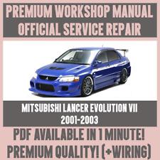 *WORKSHOP MANUAL SERVICE & REPAIR for MITSUBISHI LANCER EVOLUTION VII 2001-2003