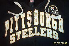 NFL,STEELERS,SMALL,HOODIE,DISTRESSED,HOODED,SWEATSHIRT,PITTSBURG,GIII-APPAREL GR