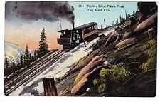 Timber Line-Pike'S Peak Cog Road-Colorado- Postcard