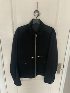 Paul Smith Mainline Men's Black Woven Zip Up Jacket Size M RRP£645 Made In Italy