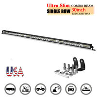 30inch LED Work Light Bar Slim Combo Truck Offroad 4WD SUV ATV Spot Flood Fog US