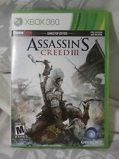 XBOX 360 ASSASSIN'S CREED III GAME USED COMPLETE NO SCRATCHES