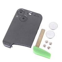 2BTN Keyless Remote Card Repair Kit Key Blade Case For Renault Laguna 2 Battery