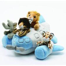 "NEW Unipak Designs Toy 12"" Airplane House with Stuffed Animals Plush w/ & 7166AP"