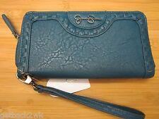 NEW Jessica Simpson CLUTCH WALLET Handbag $48 Zip Around Wristlet Madison Blue