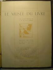 LA RELIURE MODERNE, Le Musee du Livre, Fasc. 23-24, 1912