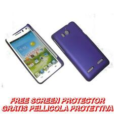 Pellicola+custodia BACK COVER RIGIDA VIOLA per Huawei Ascend G600 U8950