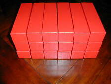 18 (Eighteen) Red Cardboard Storage Box Boxes 2x2x9 for 2x2 Coin Holders Flips