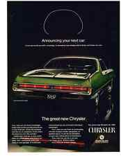 1969 CHRYSLER 300 2-DOOR HARDTOP  ~  NICE ORIGINAL PRINT AD