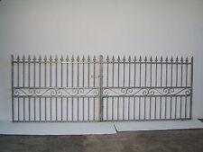 Strong wrought Iron double driveway iron gate 4ft tall 11ft  wide opening