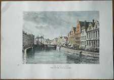 1879 Reclus print GHENT, FLANDERS, BELGIUM (#12)