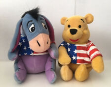4th of July Pooh & Eeyore in USA flag shirts Bean Bag Plush