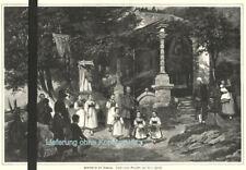 """""""Erntefest in der Ramsau"""" Original Holzstich von 1883"""