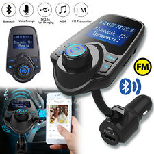 Bluetooth Car Kit ^Handsfree FM Transmitter Radio MP3 Player *^USB Charger & AUX