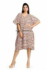 Indian Kaftan Plus Size Women Dress Caftan Beach Bikni Cover Up Boho Gown Tunic