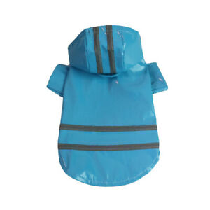 Pet Dog Raincoat Waterproof Raincoat Puppy Clothes Hooded Reflective Rain Wear