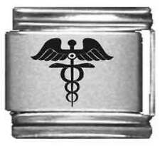 Clearly Charming Medical Caduces Laser Italian Charm