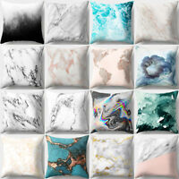 EE_ GEOMETRIC MARBLE TEXTURE THROW PILLOW CASE CUSHION COVER SOFA HOME DECOR KAW