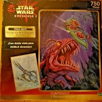 SEALED 1999 Star Wars Episode 1 Gungan Sub Escape 750 Piece Puzzle *Two-Sided*