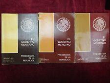 EL GOBIERNO MEXICANO: PRESIDENCIA DE LA REPUBLICA/MEXICO/3 BOOKS/1978-1981 1st