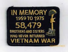 IN MEMORY 58479 KIA VIETNAM VET HAT PATCH US MARINES ARMY NAVY AIR FORCE USCG