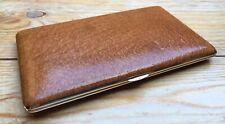 Vintage Brown Deco Look Cigarette Case/Leather Effect/1950's/60's/Large