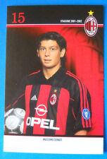 CARTOLINA UFFICIALE A.C. MILAN 2001/2002 - MASSIMO DONATI - 10X15