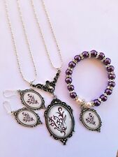 Beautiful YOUNIQUE VICTORIAN SET Necklace, Bracelet, Earrings - Custom Made
