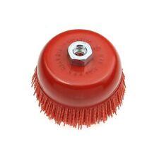 "100*M14 Cup Nylon Abrasive Brush Wheel P80 Pile Polymer-abrasive 4.5""Angle Grind"