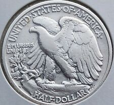 1945 D Walking Liberty Half dollar, 50 Cents silver coin
