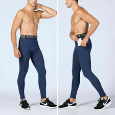 Men's Compression Pants Athletic Running Training Gym Shorts with Pocket trouser
