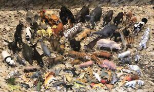 HUGE LOT OF RUBBER ANIMALS, DINOSAUR, ZOO, FARM, FIGURES, SCHLEICH, AAA, METERS