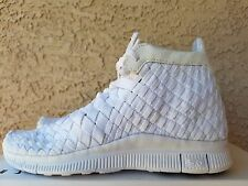 Nike Free Inneva Woven Mid SP White 800907 110 Men's Size 6 = Women's 7.5