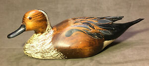 Vintage Leo Koppy Wood Carved Pintail Duck - As Is - See Description