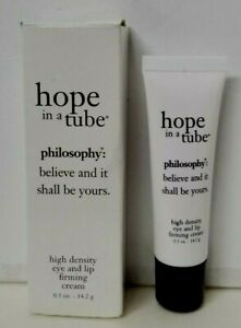 PHILOSOPHY hope in a tube EYE and LIP Firming Cream 0.5 oz NEW IN A BOX