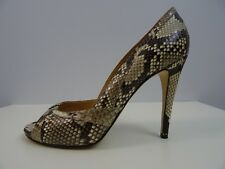 Unützer Damen Schuhe Pumps Peep Toe Shoes High Heels Python 40 Handmade Wie neu