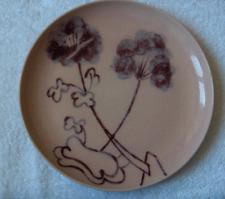 Rare Winfield Geranium large dinner plate~Gabriel Pasadena mark~hand painted-NR